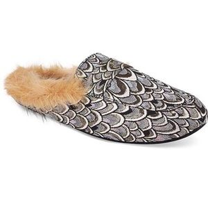 Inc Faux Fur Beautiful Slide Slippers SM-XL